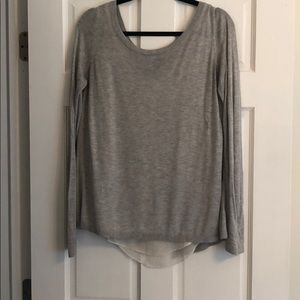 Express Lg gray sweater with slit in back